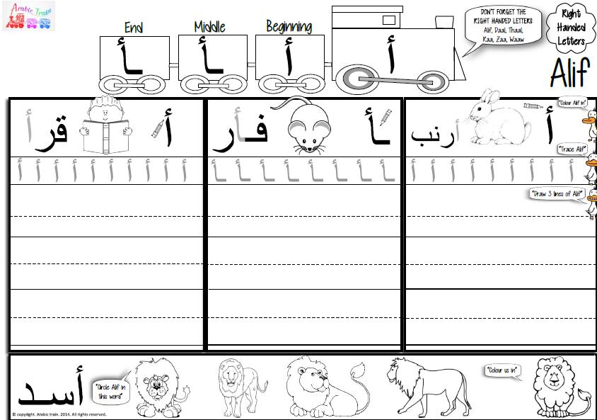أوراق عمل الحروف الهجائية لغير الناطقين بها ملفاتي