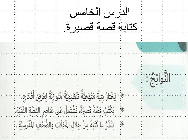 اللغة العربية درس الكتابة قصة عن حب الوطن للصف السابع ملفاتي