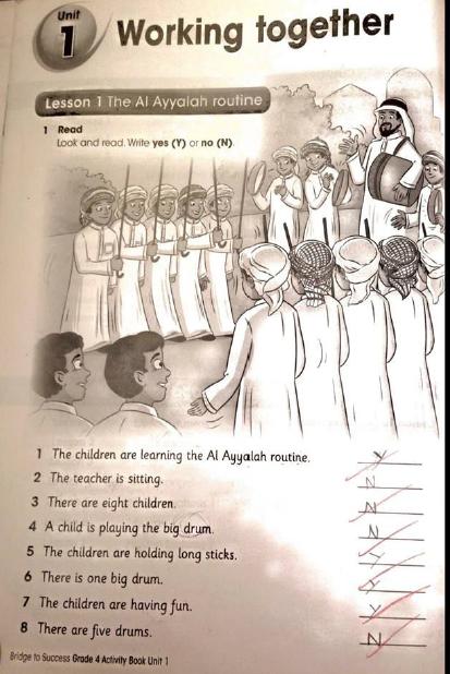 حل كتاب النشاط الانجليزي المستوى السادس